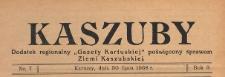"""Kaszuby : dodatek regjonalny """"Gazety Kartuskiej"""" poświęcony sprawom Ziemi Kaszubskiej, 1938.07.30 nr 7"""
