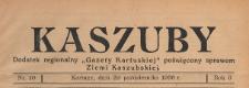 """Kaszuby : dodatek regjonalny """"Gazety Kartuskiej"""" poświęcony sprawom Ziemi Kaszubskiej, 1938.10.29 nr 10"""