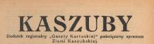 """Kaszuby : dodatek regjonalny """"Gazety Kartuskiej"""" poświęcony sprawom Ziemi Kaszubskiej, spis rzeczy. Rok 1936-1938"""