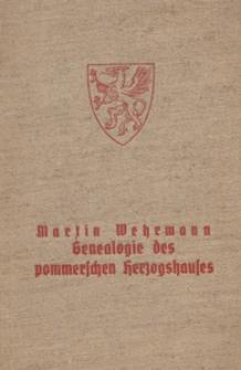 Genealogie des pommerschen Herzogshauses