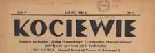 """Kociewie : dodatek regionalny """"Gońca Pomorskiego"""" i """"Dziennika Starogardzkiego"""" poświęcony sprawom ziemi kociewskiej, 1938.07 nr 1"""