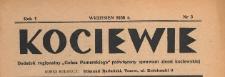 """Kociewie : dodatek regionalny """"Gońca Pomorskiego"""" i """"Dziennika Starogardzkiego"""" poświęcony sprawom ziemi kociewskiej, 1938.09 nr 3"""