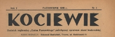 """Kociewie : dodatek regionalny """"Gońca Pomorskiego"""" i """"Dziennika Starogardzkiego"""" poświęcony sprawom ziemi kociewskiej, 1938.10 nr 10"""