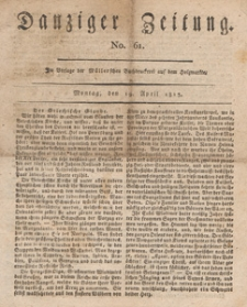Danziger Zeitung, 1813.04.19 nr 61