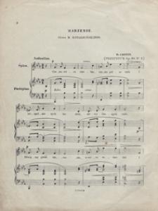 Marzenie : transkrypcja Preludium A-dur op.28 No 7 : na głos i fortepian / sł.: M. Kotarbińskiego