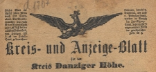 Kreis- und Anzeige-Blatt für den Kreis Danziger Höhe, 1900.01.03 nr 1