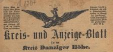 Kreis- und Anzeige-Blatt für den Kreis Danziger Höhe, 1892.10.29 nr 87