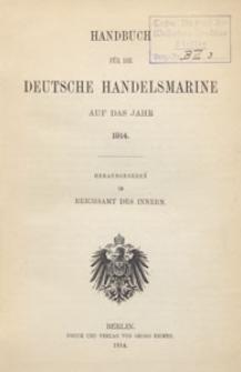 Handbuch für die Deutsche Handels-Marine auf das Jahr 1914, Vorwort