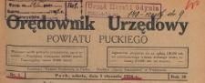 Orędownik Urzędowy Powiatu Puckiego, 1924, skorowidz