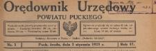 Orędownik Urzędowy Powiatu Puckiego, 1923, skorowidz