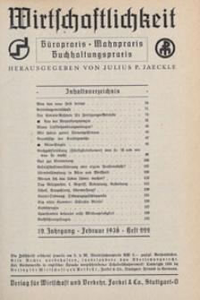 Wirtschaftlichkeit : Büropraxis, Mahnpraxis, Buchhaltungspraxis, 1838.09 H. 229