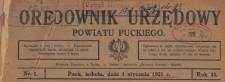 Orędownik Starostwa i Powiatu Puckiego, 1921.12.03 nr 85