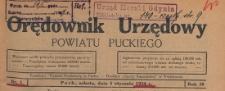Orędownik Urzędowy Powiatu Puckiego, 1924.11.01 nr 64