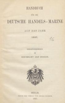 Handbuch für die Deutsche Handels-Marine auf das Jahr 1897, III