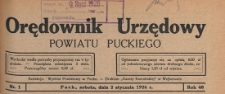 Orędownik Urzędowy Powiatu Puckiego, 1926.10.27 nr 43