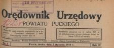 Orędownik Urzędowy Powiatu Puckiego, 1925.11.11 nr 43