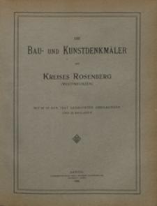 Die Bau- und Kunstdenkmäler des Kreises Rosenberg