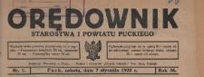 Orędownik Starostwa i Powiatu Puckiego, 1922.01.11 nr 2