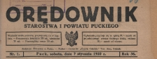 Orędownik Starostwa i Powiatu Puckiego, 1922.04.29 nr 31