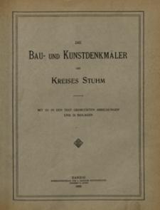 Die Bau- und Kunstdenkmäler Pomesaniens. H. 3. Kreis Stuhm