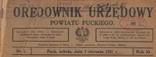 Orędownik Starostwa i Powiatu Puckiego, 1921.01.01 nr 1