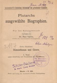 Demosthenes und Cicero : Text nebst Einleitung und Verzeichnis der Eigennamen