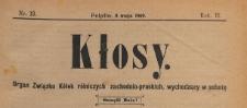Kłosy : organ Związku Kółek Rolniczych Zachodnio-Pruskich, 1909.05.08 nr 19