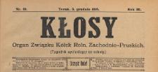 Kłosy : organ Związku Kółek Rolniczych Zachodnio-Pruskich, 1910.12.03 nr 49
