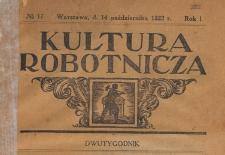 Kultura Robotnicza, 1922.10.14 nr 17
