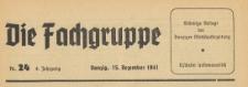 Die Fachgruppe : Organ Sämtlicher Fachgruppen der Industrie und Handelskammer zu Danzig, 1941.12.15 nr 24