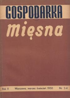 Gospodarka Mięsna, 1950.03-04 nr 3-4