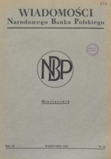 Wiadomości Narodowego Banku Polskiego, 1950.10 nr 10