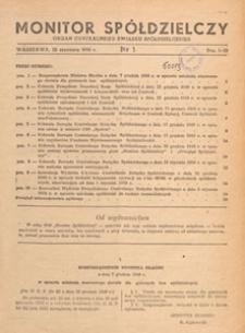 Monitor Spółdzielczy : oficjalny organ Centralnego Związku Spółdzielczego, 1950.06.10 nr 9
