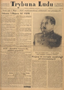 Trybuna Ludu : organ Komitetu Centralnego Polskiej Zjednoczonej Partii Robotniczej, 1950.05.27 nr 144