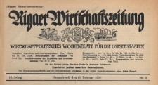 Rigaer Wirtschaftszeitung : wirtschaftspolitisches Wochenblatt für die Ostseestaaten, 1939.02.18 nr 4