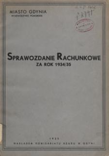 Sprawozdanie rachunkowe za rok 1934/1935