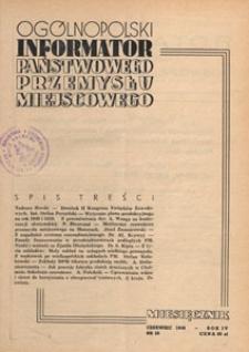 Ogólnopolski Informator Przemysłu Miejscowego, 1949.06 nr 26