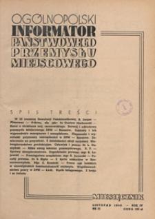 Ogólnopolski Informator Przemysłu Miejscowego, 1949.11 nr 31