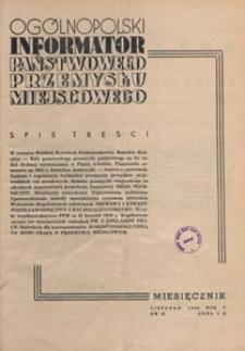 Ogólnopolski Informator Przemysłu Miejscowego, 1950.11 nr 43