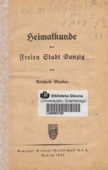 Heimatkunde der Freien Stadt Danzig