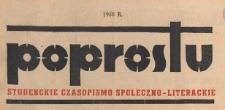 Poprostu : studenckie czasopismo społeczno-literackie, 1950.11.03 nr 31