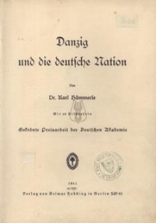 Danzig und die deutsche Nation