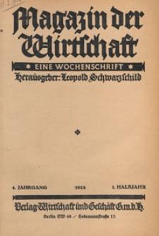 Magazin der Wirtschaft : eine Wochenschrift, 1928.01.12 nr 2