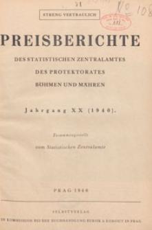 Preisberichte des Statistischen Zentralamtes des Protektorates Böhmen und Mähren, 1940 Nr 7