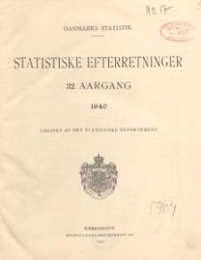 Statistiske Efterretninger, 1940.08.10 nr 31