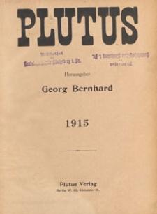 Plutus : Kritische Wochenschrift für Volkswirtschaft und Finanzwesen, 1915, Verzeichnis des Inhalts