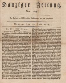 Danziger Zeitung, 1813.07.12 nr 109