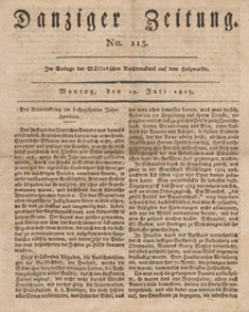 Danziger Zeitung, 1813.07.19 nr 113