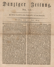 Danziger Zeitung, 1813.07.27 nr 118