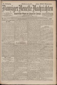 Danziger Neueste Nachrichten : unparteiisches Organ und allgemeiner Anzeiger 144/1897